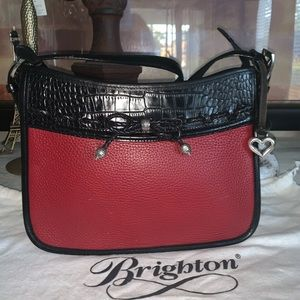 Brighton leather crossbody bag & dust bag